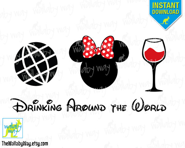 Disney Food And Wine Drink Around The World Clipart.