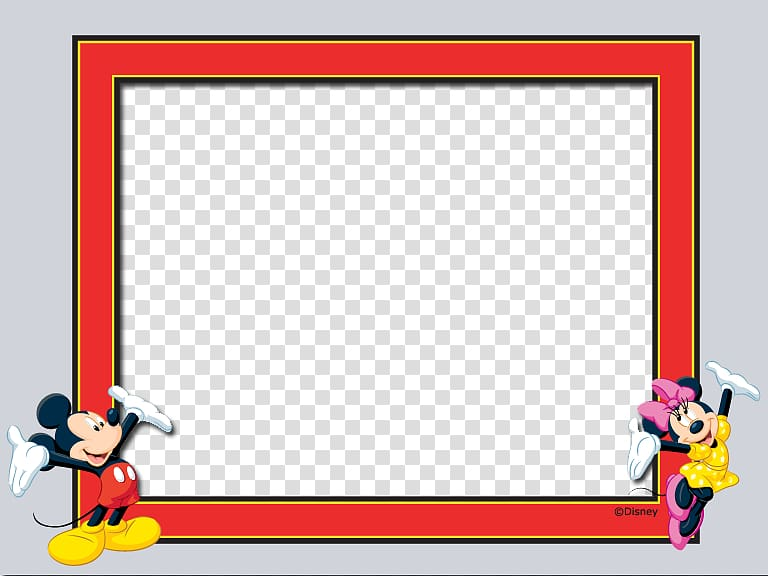 Mickey and Minnie Mouse frame border, frame The Walt Disney.