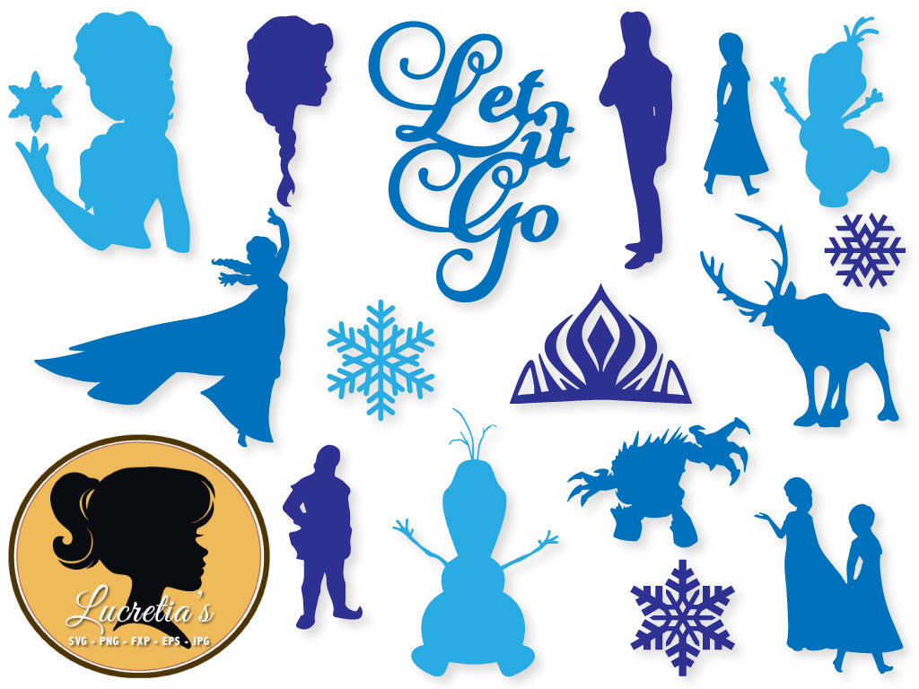 Frozen dxf Frozen clipart SVG files for Silhouette Cameo or.