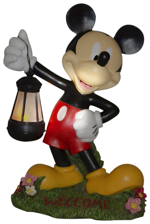 NIB Woods International 4021 Disney Garden Lantern Statue 15.