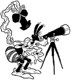 Black & White Goofy Clipart.