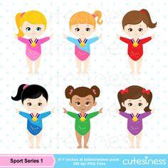 Gymnastic girl clip art.
