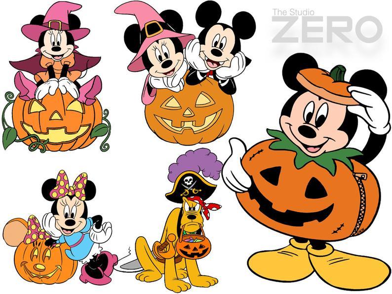 50 Halloween Clipart, Disney Halloween, Instant Download, Disney Clipart,  Mickey Halloween, 72.