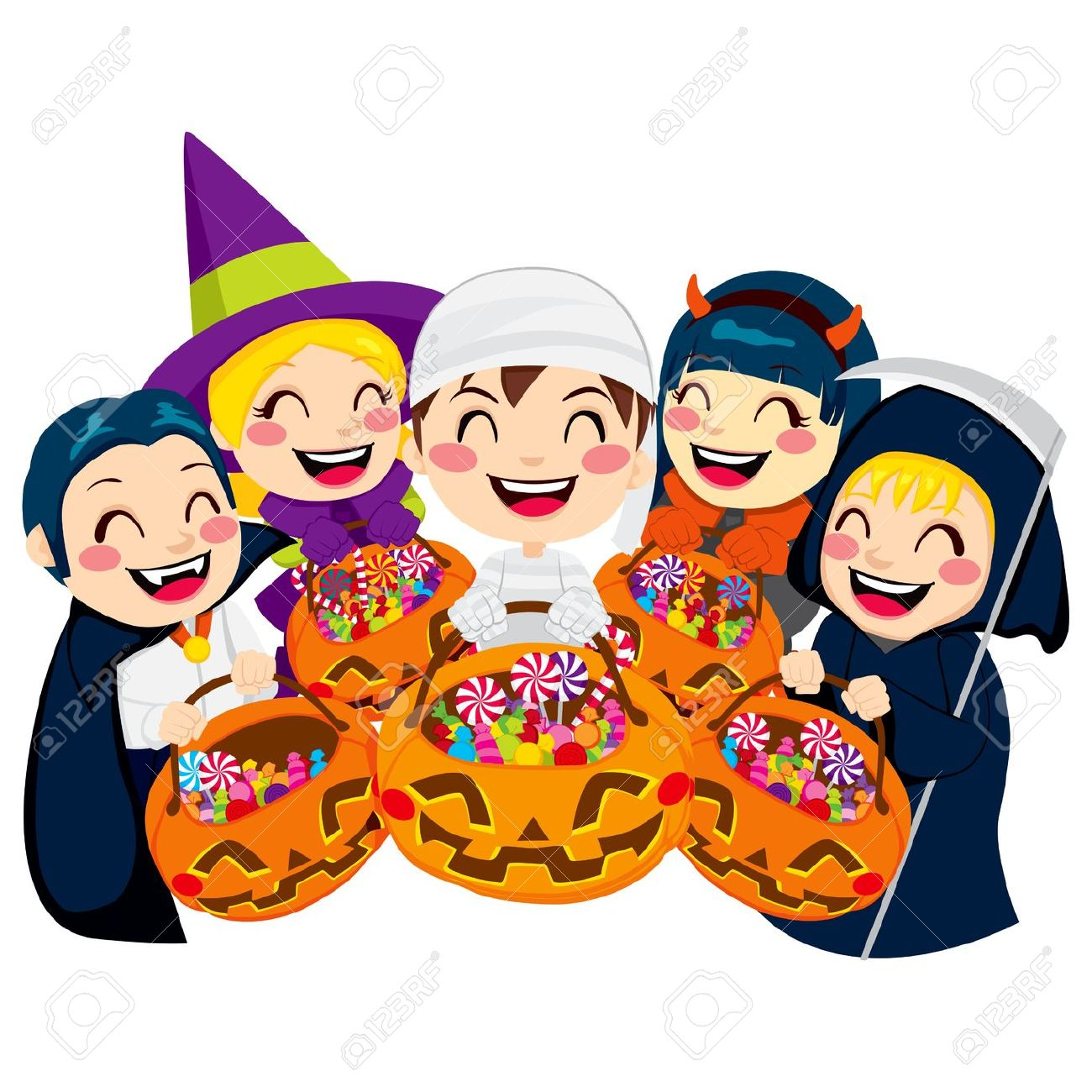 Halloween Party Clipart Kids.