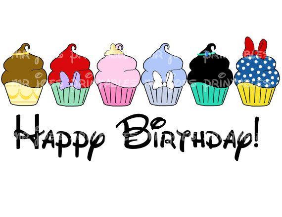 Happy Birthday Disney Characters Clipart Free.