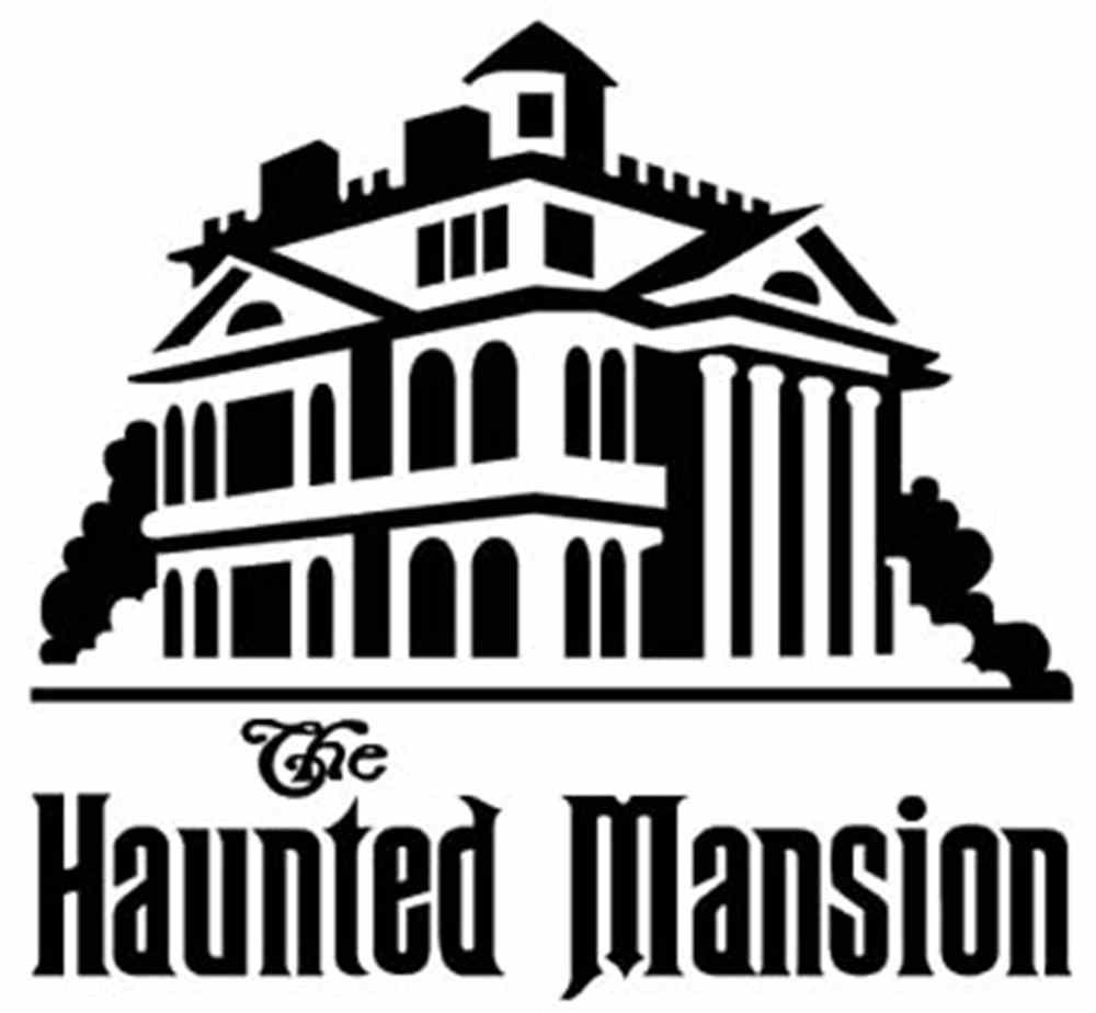 Haunted Mansion Wallpaper Stencil The haunted mansion.