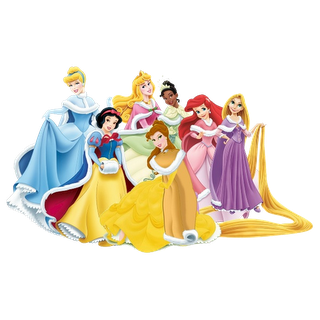 Christmas Disney Princesses Clipart.
