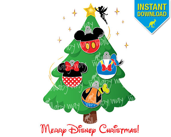Disney Christmas Tree Clipart.
