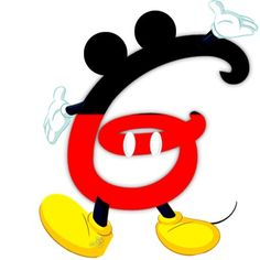 Original alfabeto inspirado en Mickey Mouse..