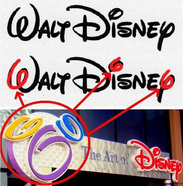 CULTIC ADVERTISING) Walt Disney\'s famous Subliminal 666.
