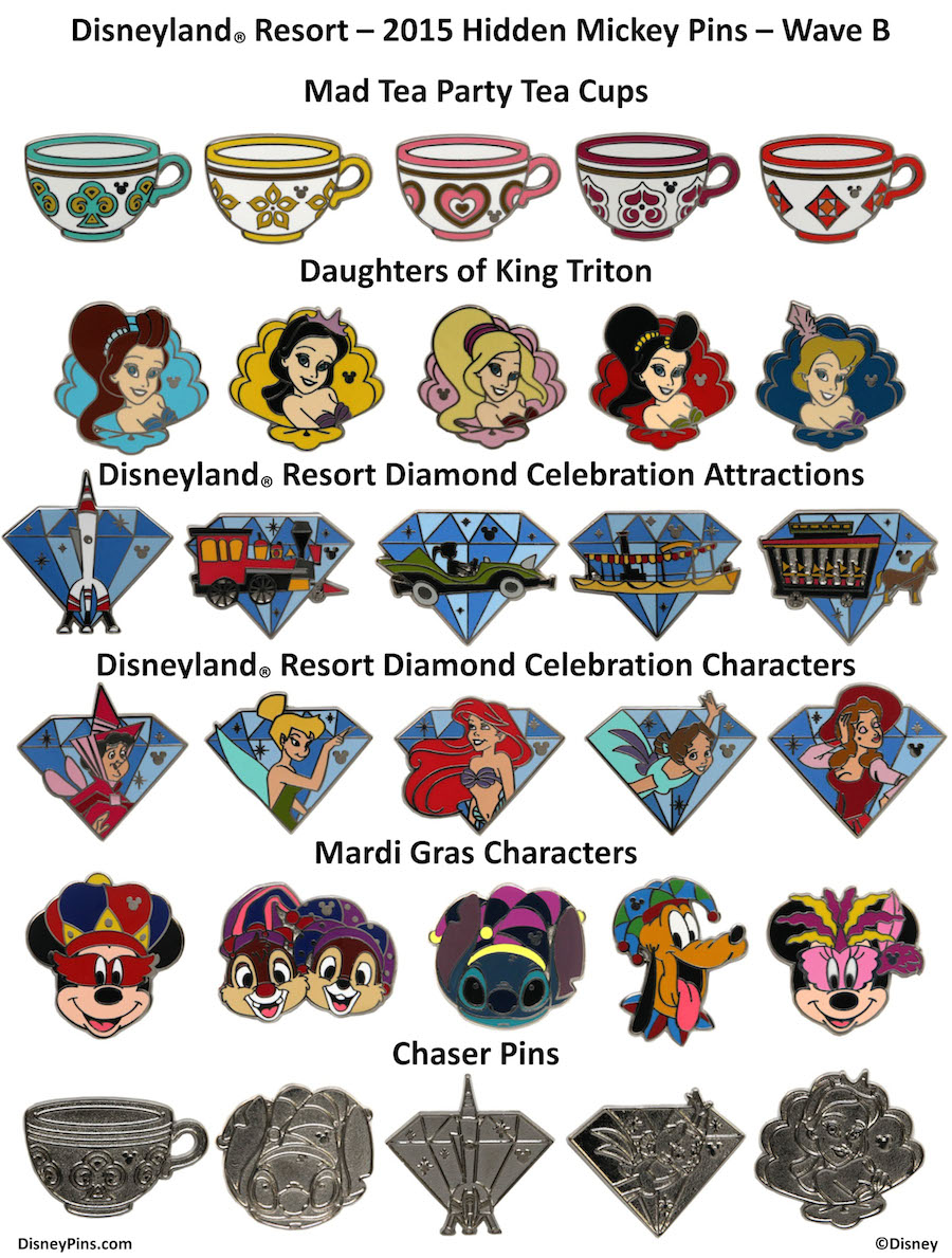 Next Wave of Hidden Mickey Pins Releasing at Disney Parks in.