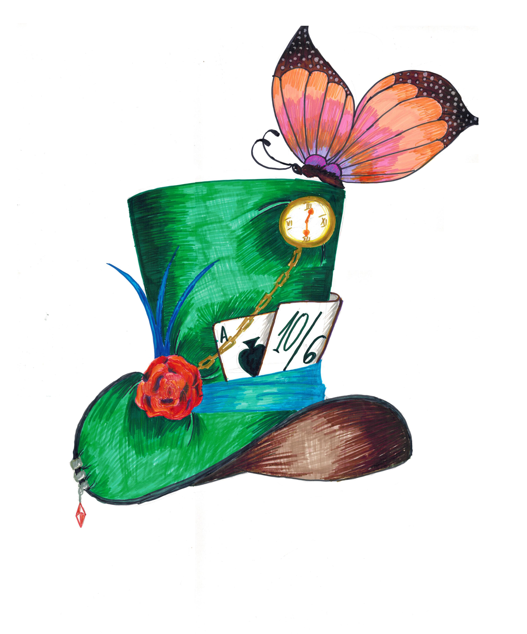 Disney Mad Hatter Hat Clipart.