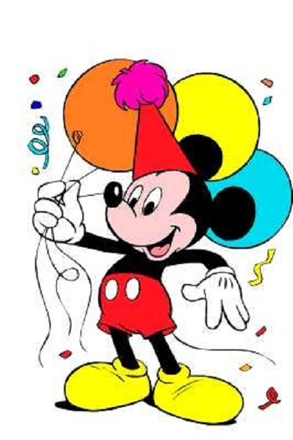 Mickey Mouse Birthday Clip Art.