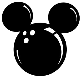 Mickey Ears Icon Clipart.