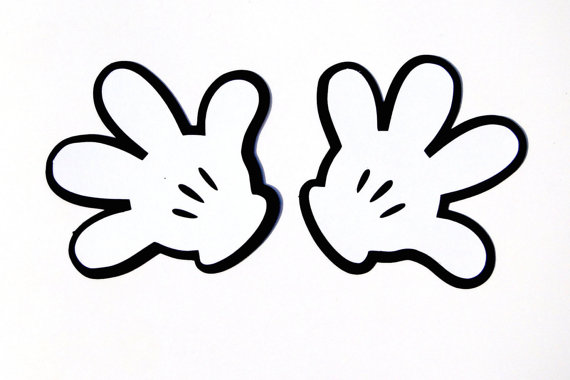 Disney mickey hand clipart clipground for Free mickey mouse hand template