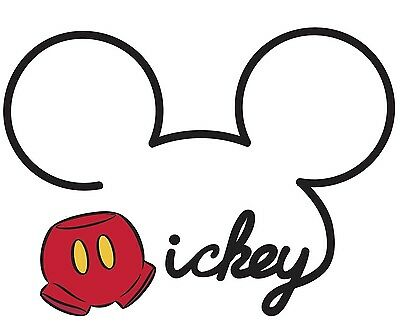 DISNEY MICKEY MOUSE NAME LOGO 32\
