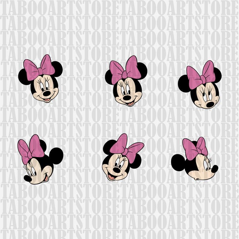 SVG Disney Minnie Mouse Clipart, Disney Minnie Mouse eps, Disney Minnie  Mouse silhouette, Disney Minnie mouse vector, vector files.