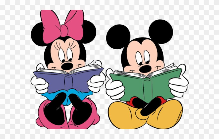 Minnie Mouse Clipart Reading.