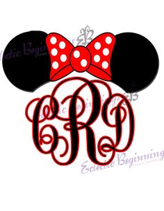Super cute monogram Mickey or Minnie for your Disney Magic Band.
