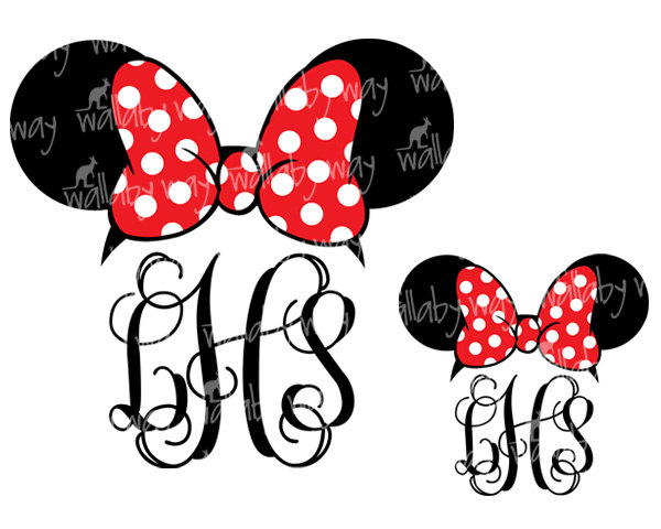 Monogrammed Disney Magic Bands - Disney Magic Band Monograms - Minnie Mouse  Monograms