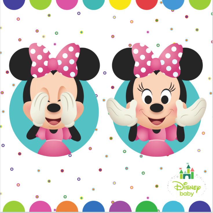 Entertain your little one with adorable Disney character art.