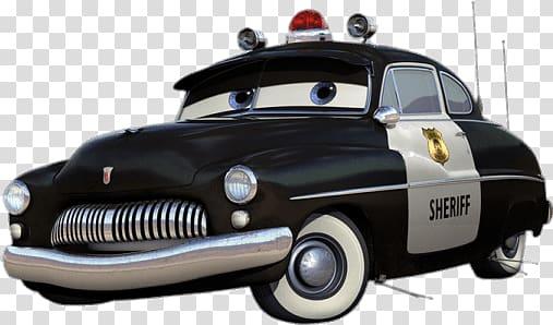 Disney Pixar Cars character illustration, Sheriff transparent.