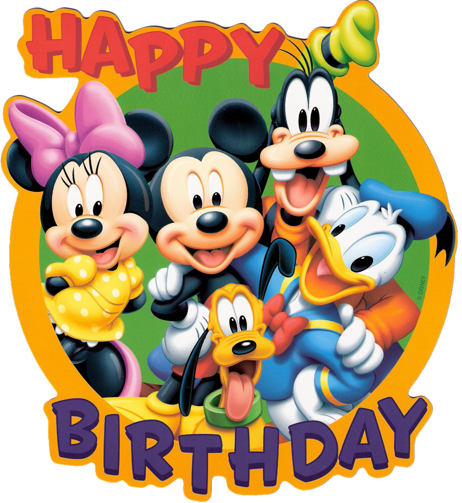 Disney Mickey Golf Happy Birthday Clipart.