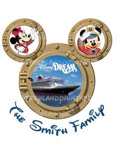 Disney Cruise Porthole SIX NAMES Disney Dream Disney Magic.