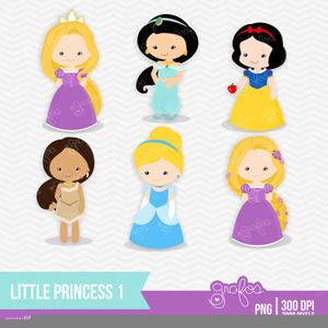 Baby Disney Princesses Clipart.