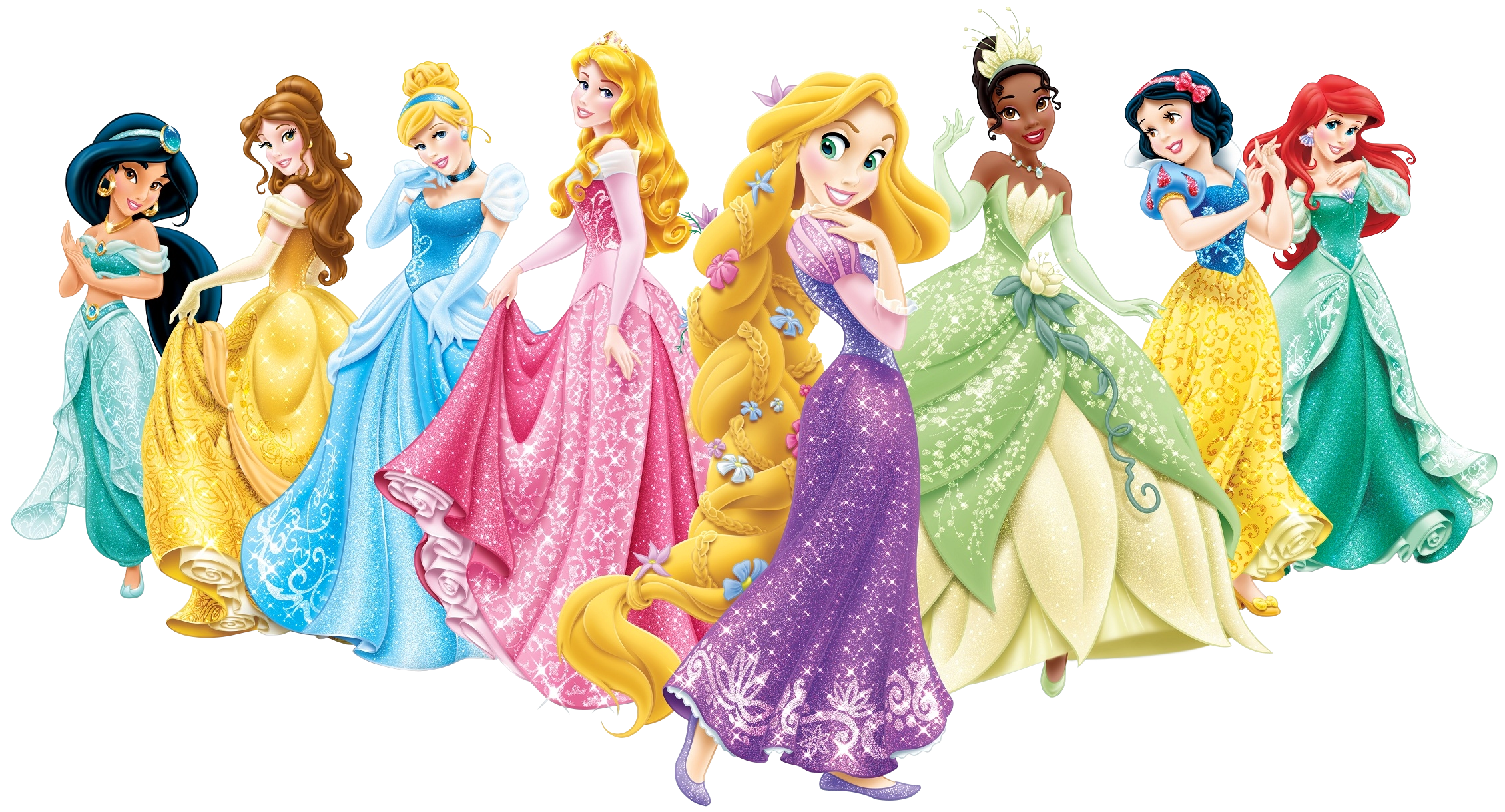 Disney Princesses PNG Cartoon Image.