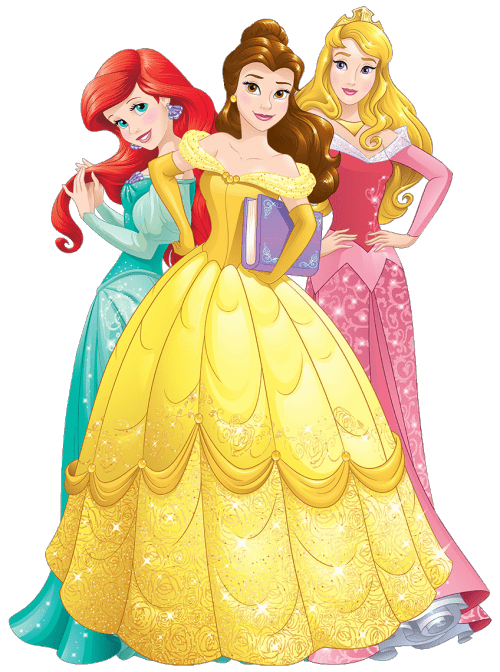 Three Disney Princesses transparent PNG.