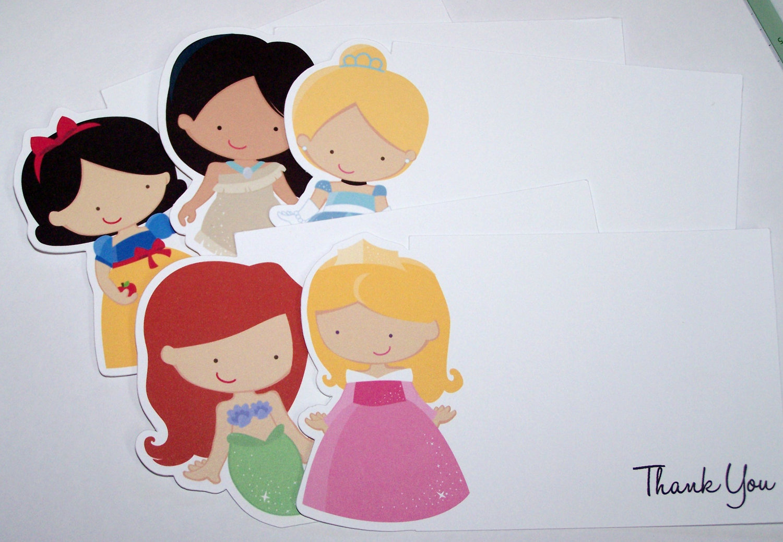 Princess Party Set of 10 Assorted Disney Princess Thank You.