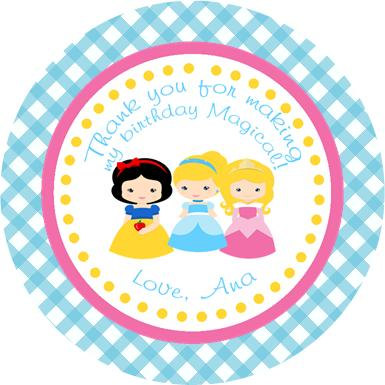 Little Princess Thank You Favor Gift Tags.