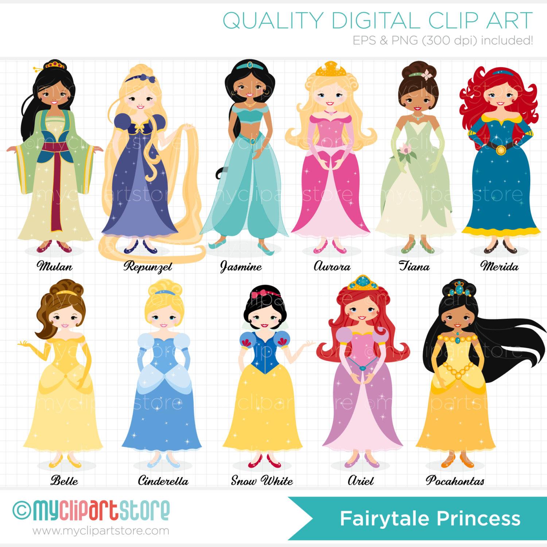 Disney Princess Toys Clipart.