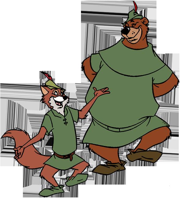 Clip art of Robin Hood and Little John #robinhood.