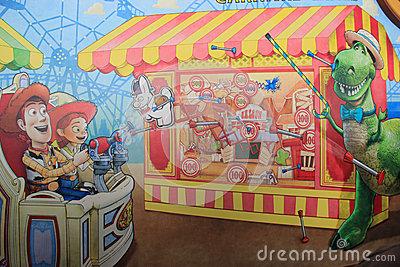 Toy Story Mania At Tokyo DisneySea Editorial Photo.