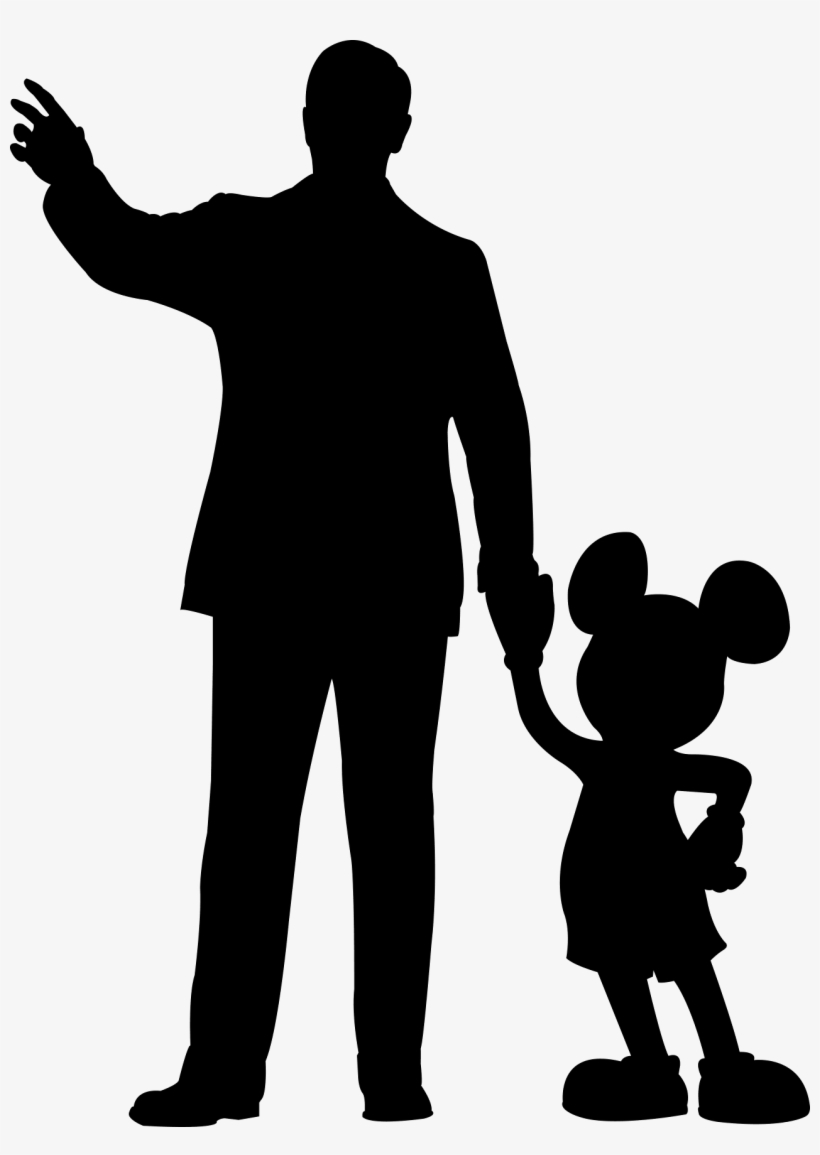 Walt Disney Mickey Mouse Silhouette Transparent PNG.