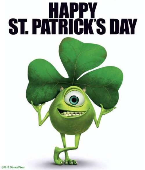 Disney happy st patricks day clipart.