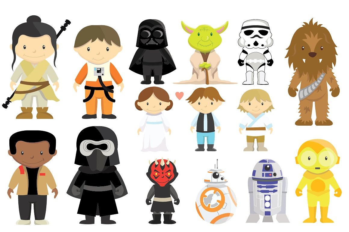 Star Wars Clipart Bundle, Disney Star Wars #505258.
