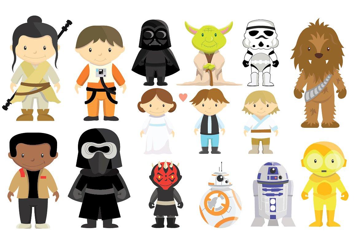 Star Wars Clipart Bundle, Disney Star Wars #505258.