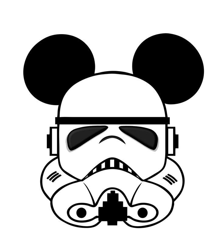 Star Wars Mickey head template.