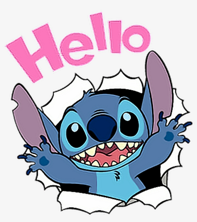 Stitch Disney Hello Cute Liloandstich Freetoedit.