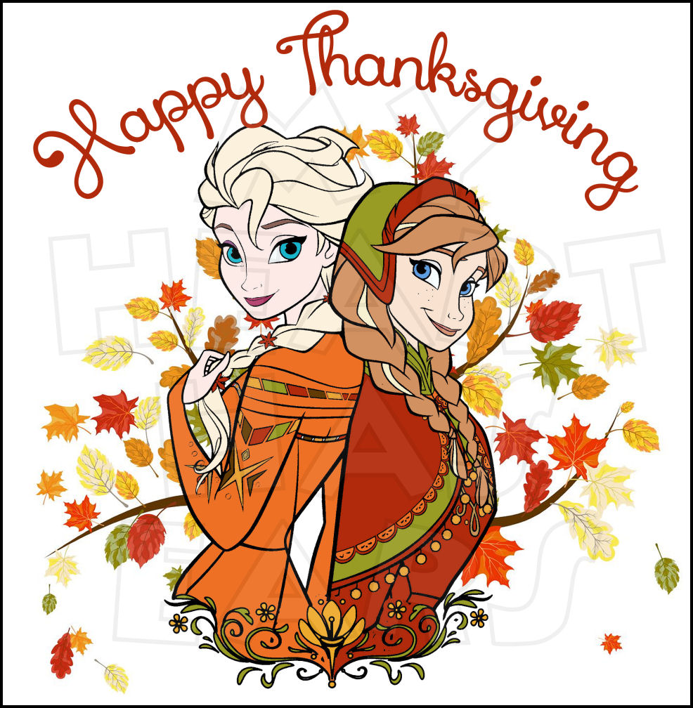 Disney Princess Thanksgiving Clipart.