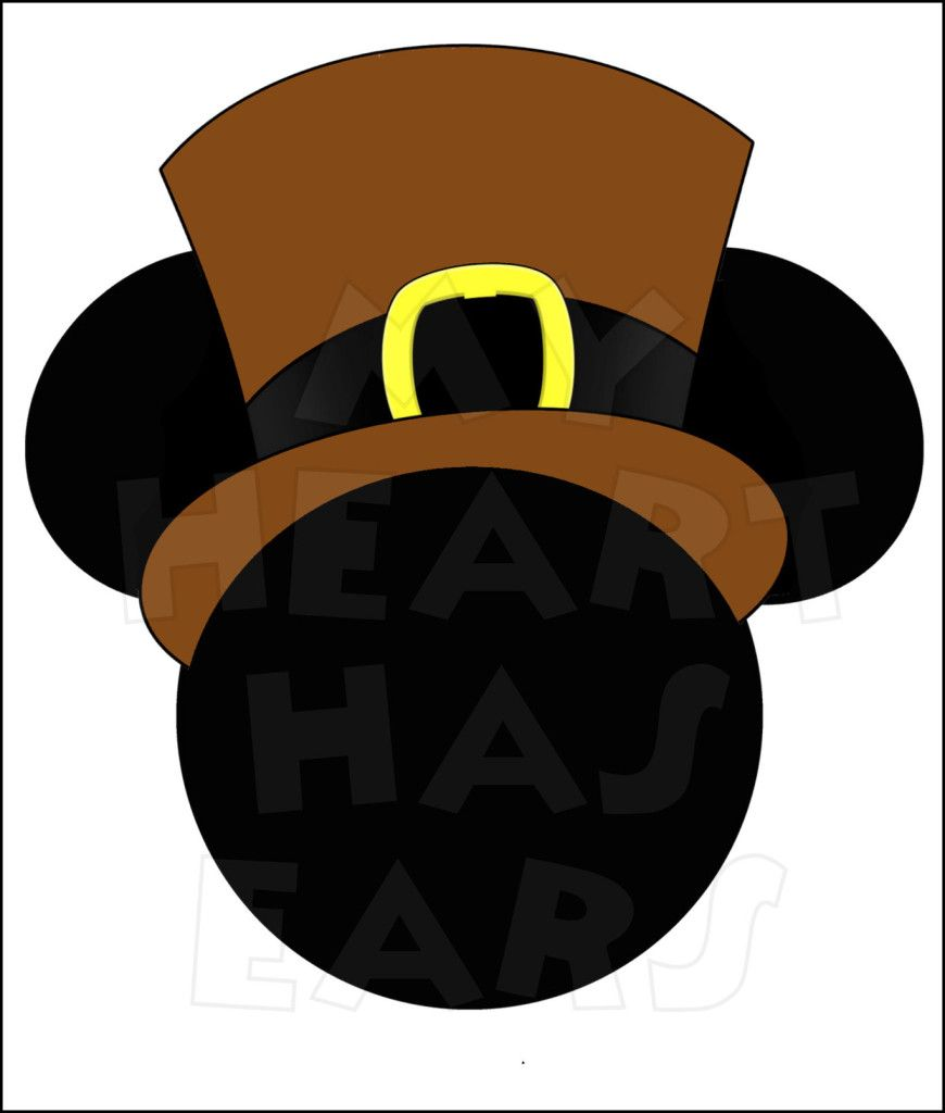 Mickey Mouse Pilgrim INSTANT DOWNLOAD Thanksgiving digital clip art.