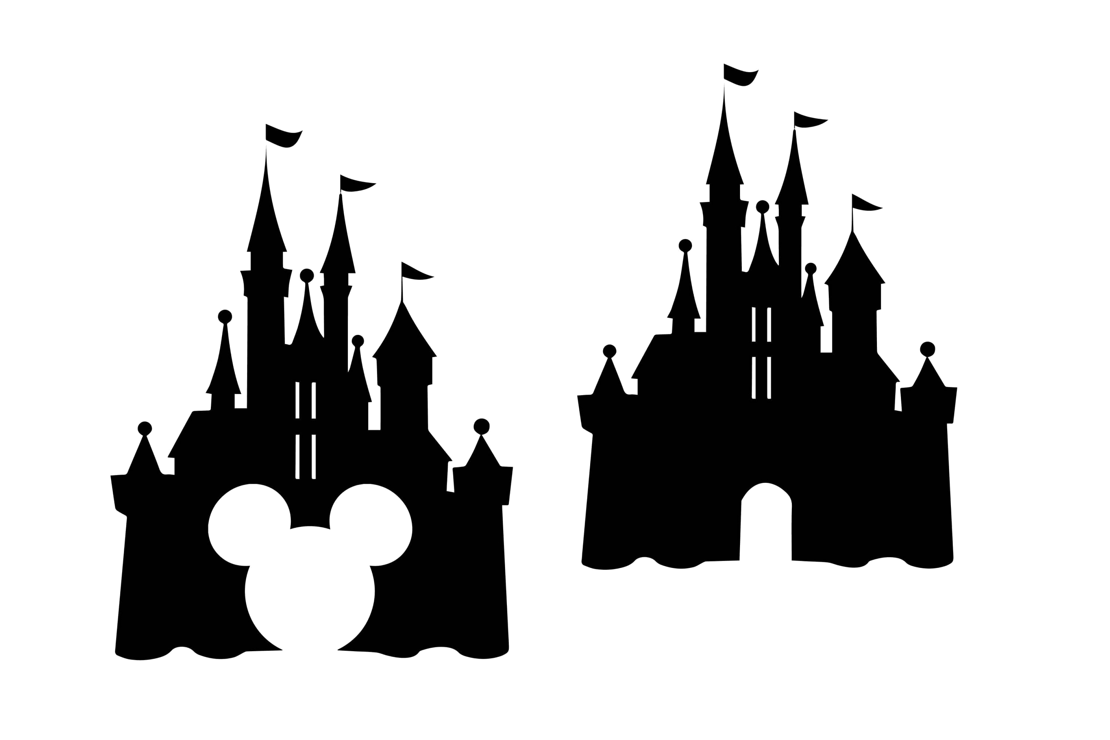 Disney Castle Mickey Vector Clipart Transparent Png.
