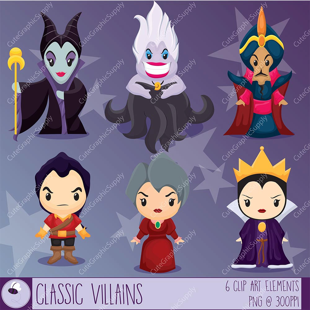 Disney Villans Clipart Black And White Clipground
