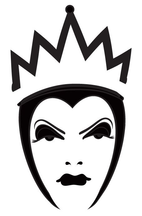 Disney Villains Clipart Black And White.