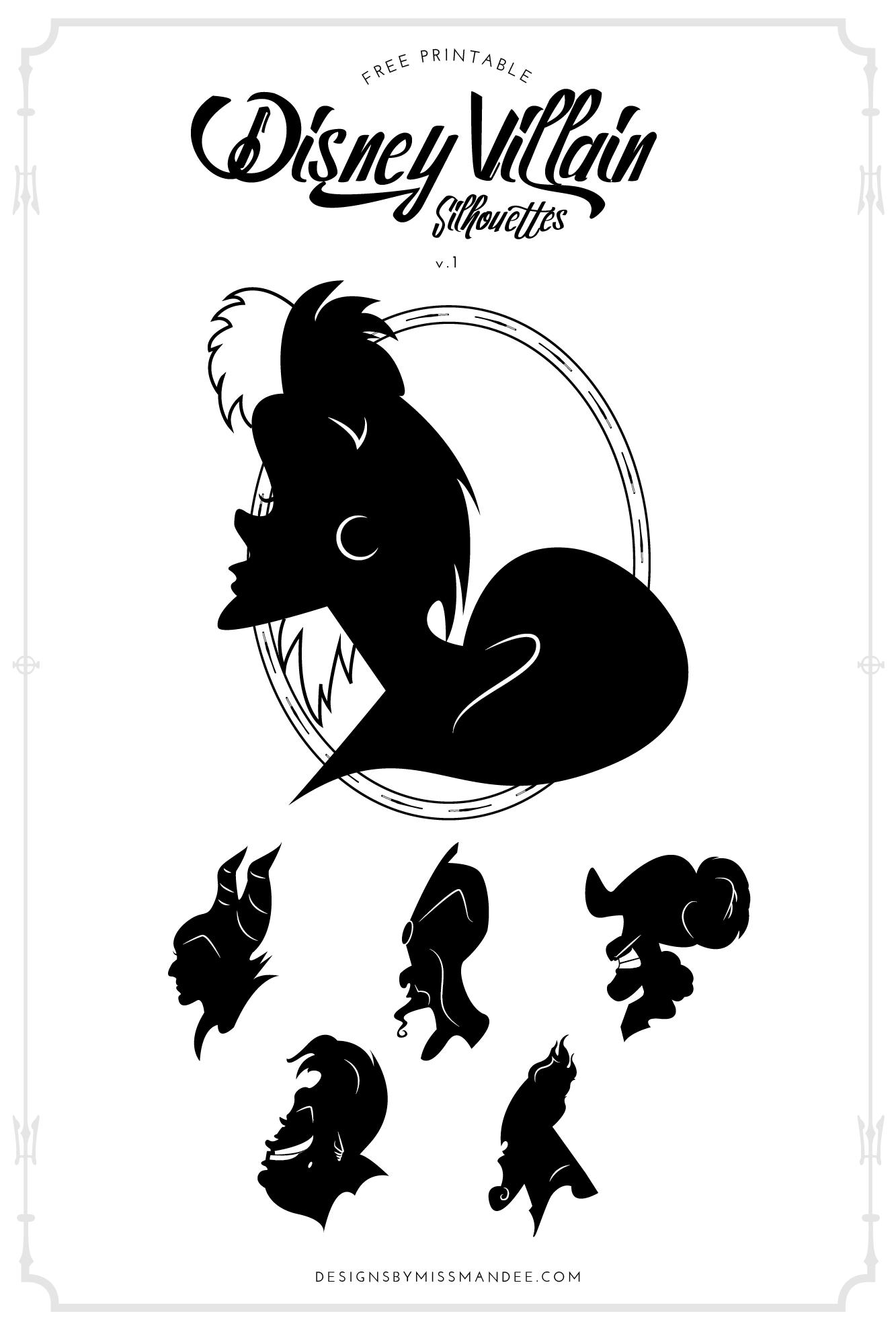 disney villans clipart black and white 20 free cliparts