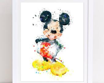 Disney watercolour.