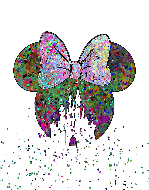 ArtDash Pop Art Print: Watercolor Splatter DISNEY MOUSE (11